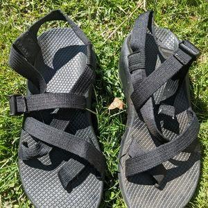 Women's Chaco Strappy Black Sandals Size 8M EUC